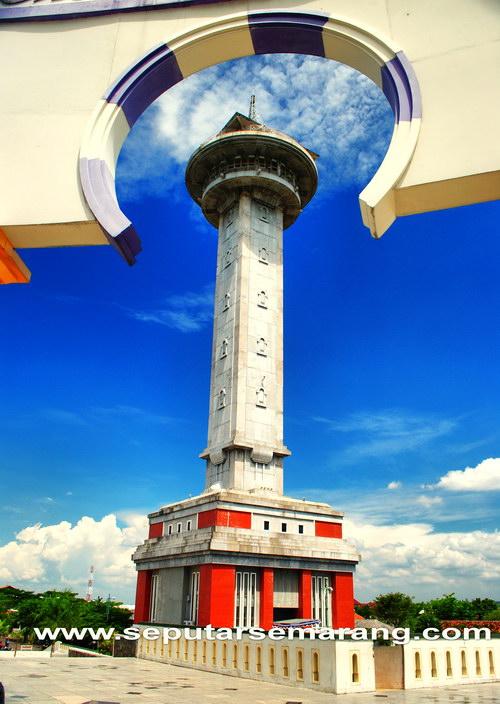 Tower Asmaul Husna Masjid Agung Jawa Tengah Semarang
