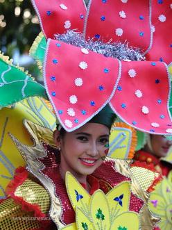 senyum selamat datang Semarang Night Carnival
