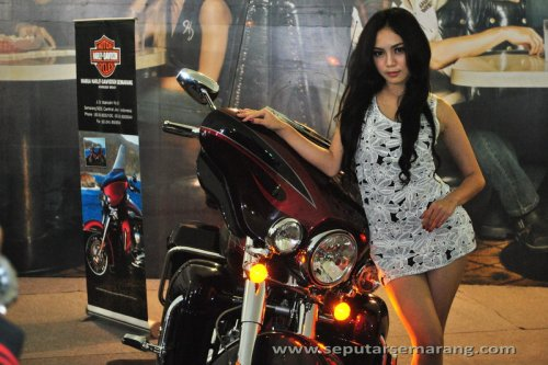 Gambar Harley Davidson dan Model Cantik Seksi