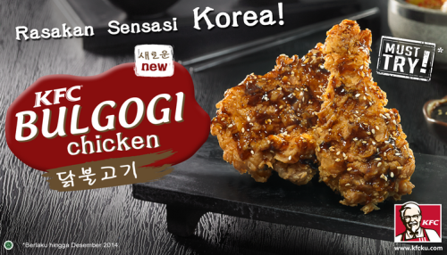 Sensasi Makanan Korea Bulgogi Chicken di KFC