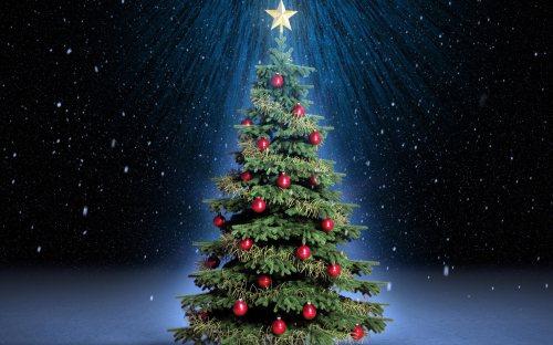 Wallpaper pohon natal