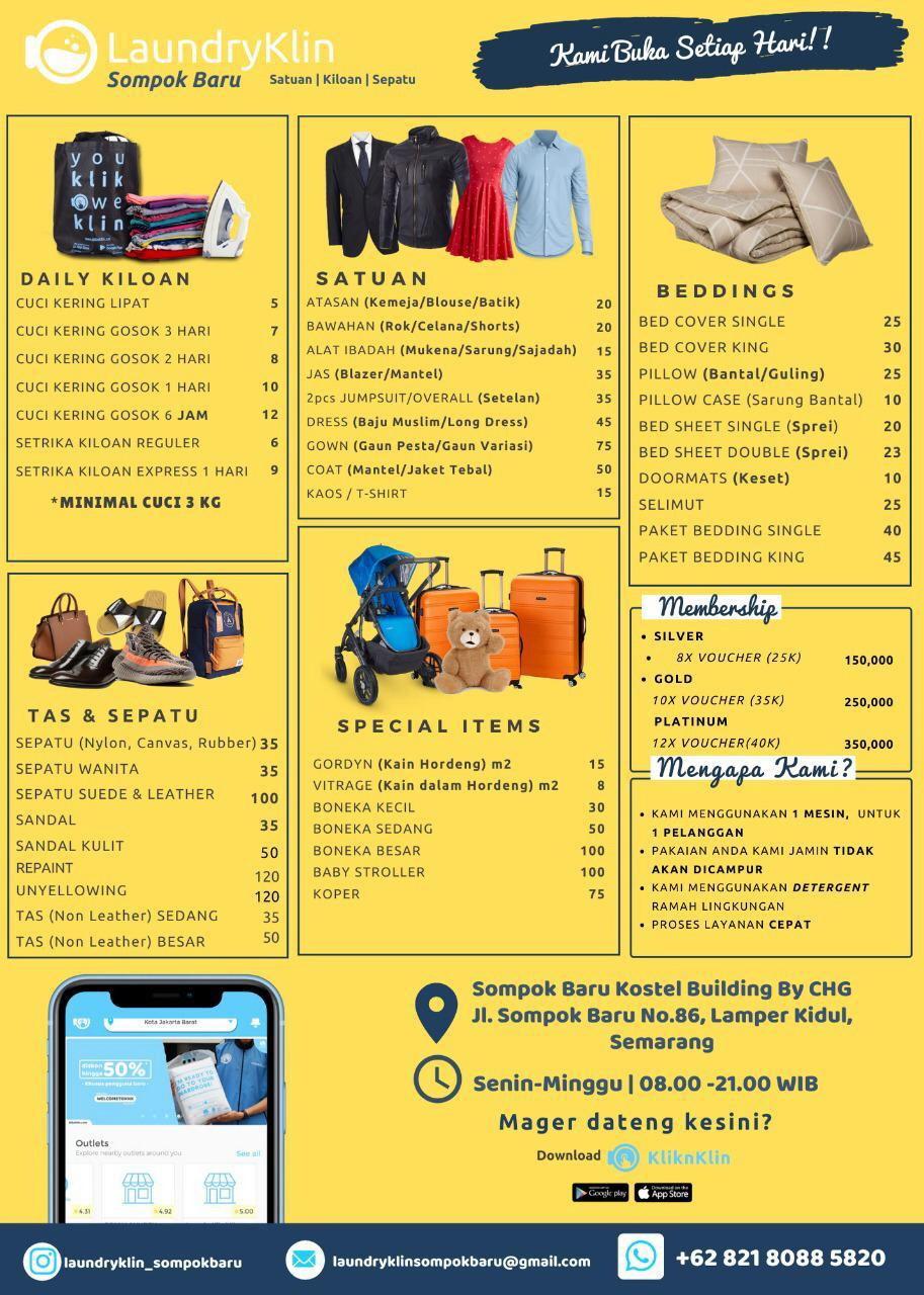 Daftar Harga Laundry Semarang